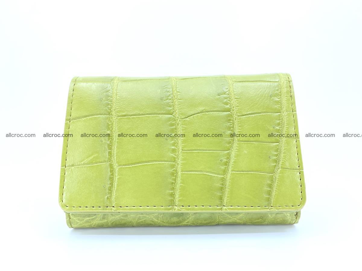 Crocodile leather wallet for women 957 Foto 0