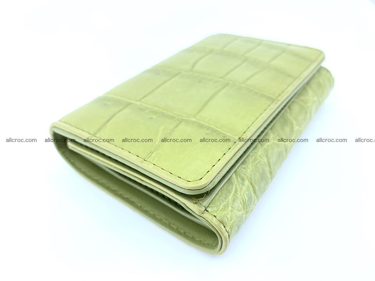 Crocodile leather wallet for women 957 Foto 2