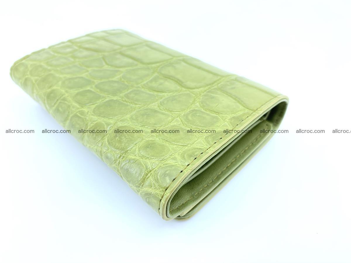 Crocodile leather wallet for women 957 Foto 3