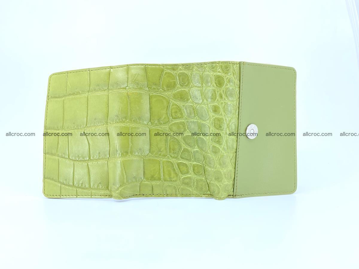 Crocodile leather wallet for women 957 Foto 9