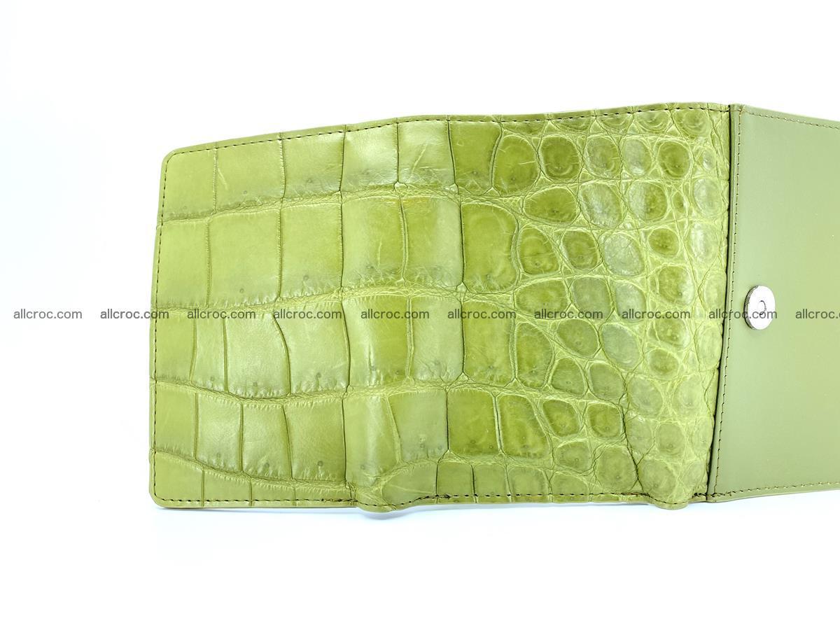 Crocodile leather wallet for women 957 Foto 4