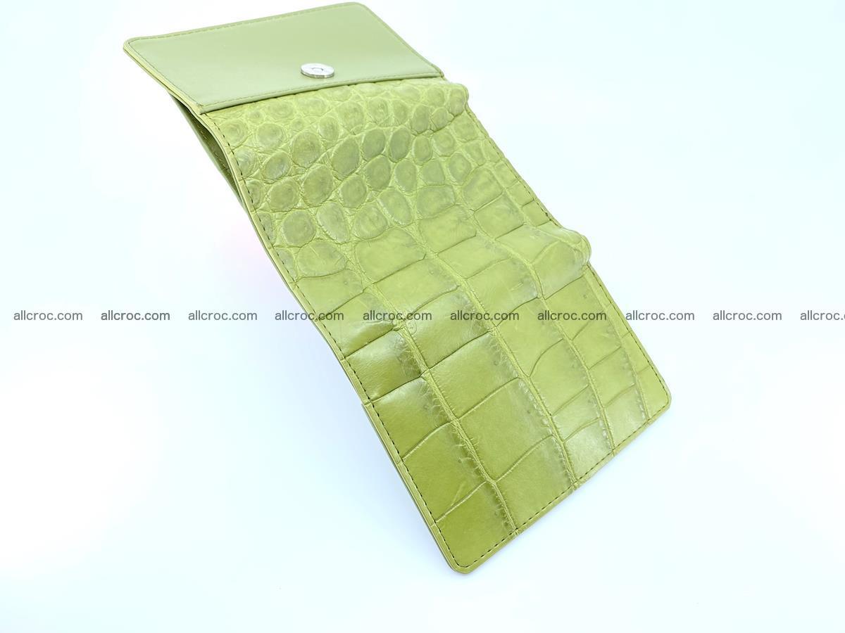Crocodile leather wallet for women 957 Foto 6