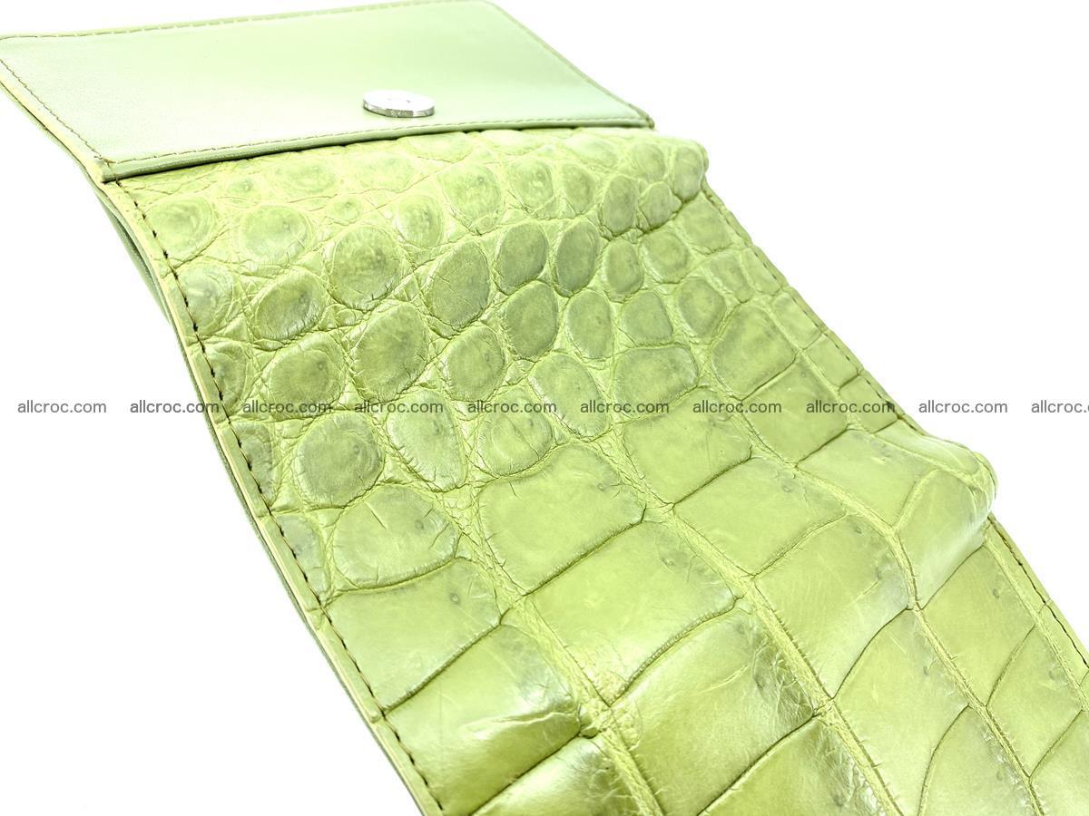 Crocodile leather wallet for women 957 Foto 5