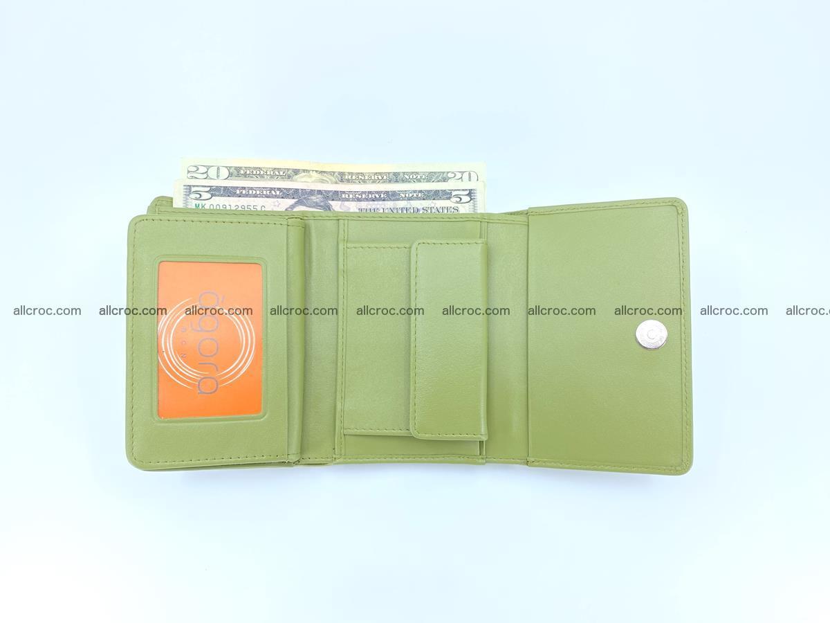 Crocodile leather wallet for women 957 Foto 7