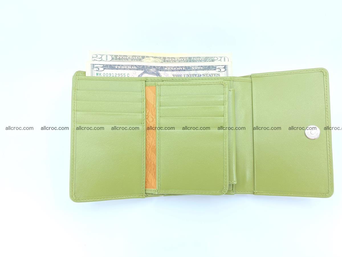 Crocodile leather wallet for women 957 Foto 8