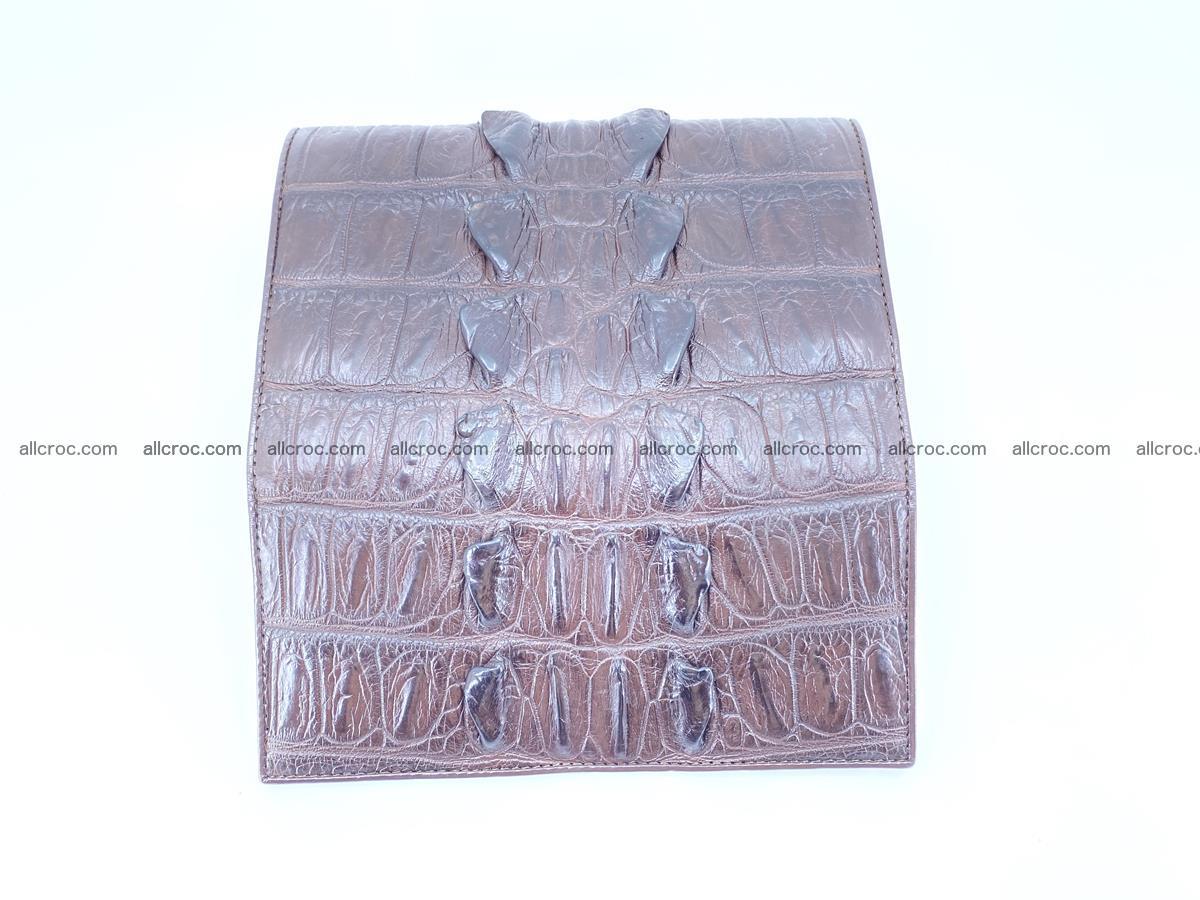 Crocodile leather wallet long wallet trifold 961 Foto 6
