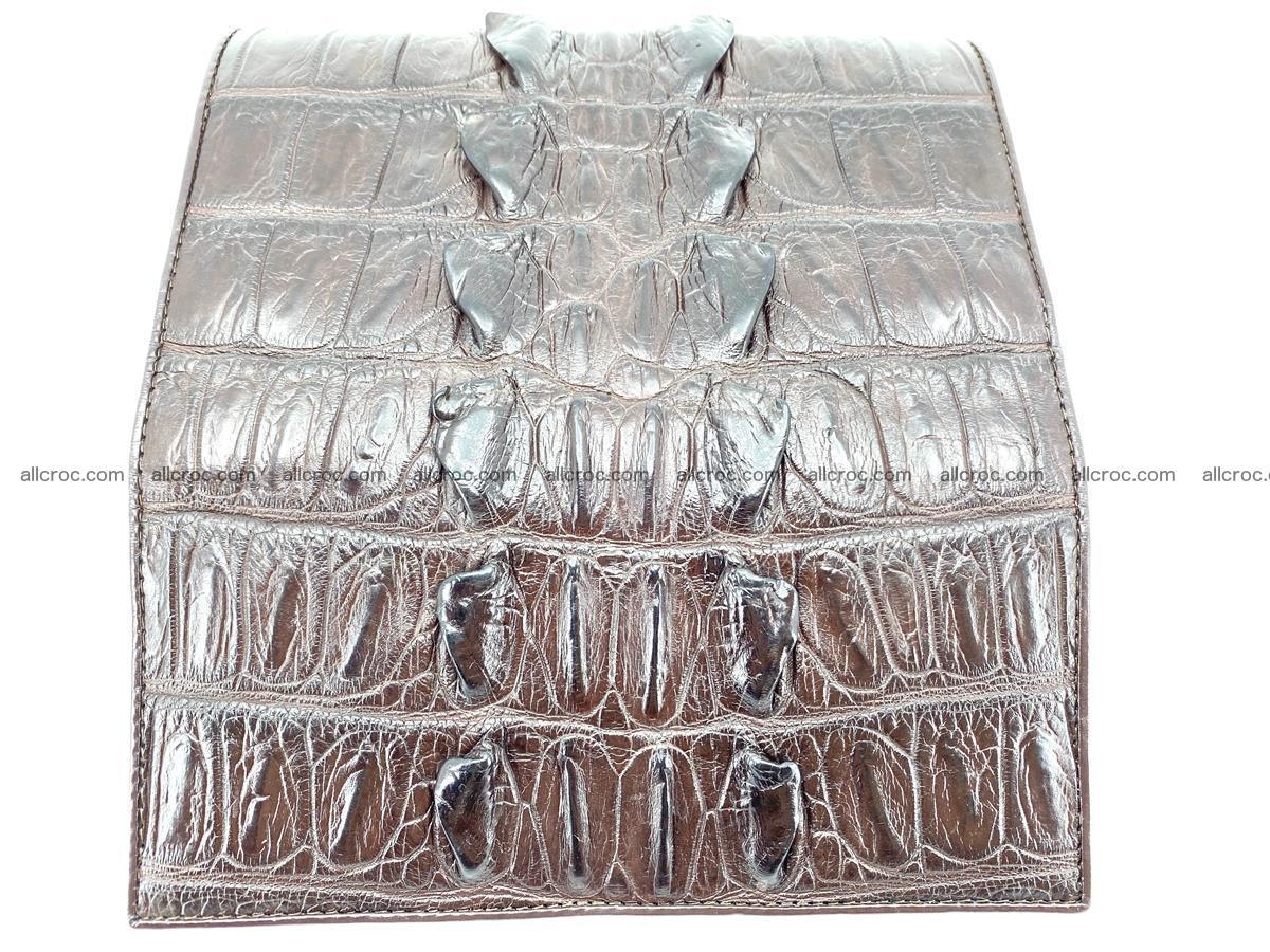 Crocodile leather wallet long wallet trifold 961 Foto 7