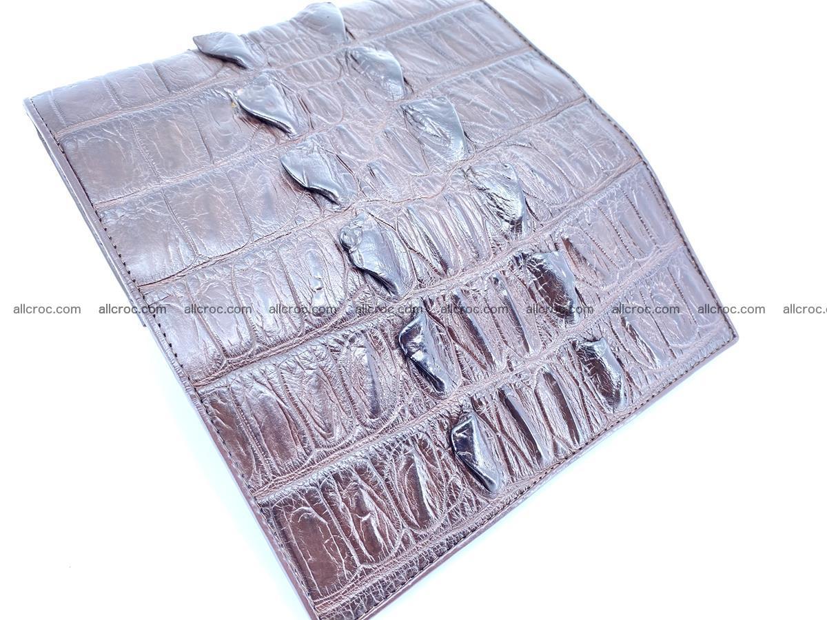 Crocodile leather wallet long wallet trifold 961 Foto 8