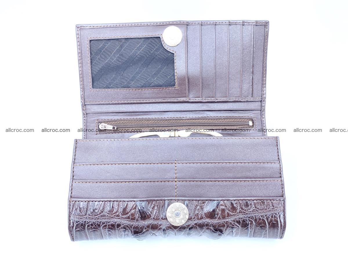 Crocodile leather wallet long wallet trifold 961 Foto 4