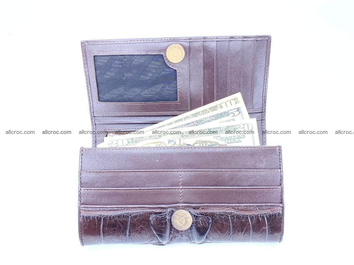 Crocodile leather wallet long wallet trifold 961 Foto 2