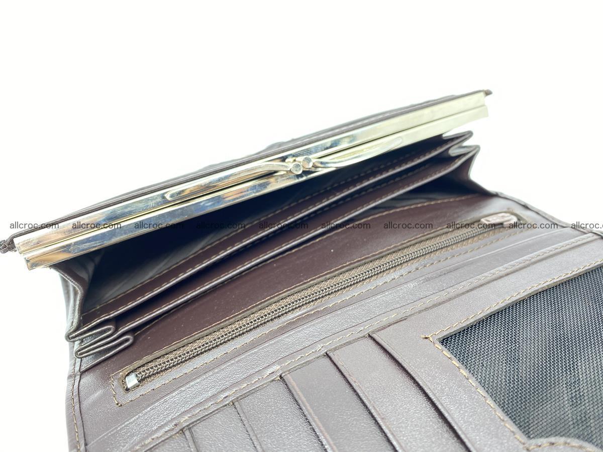 Crocodile leather wallet long wallet trifold 961 Foto 5