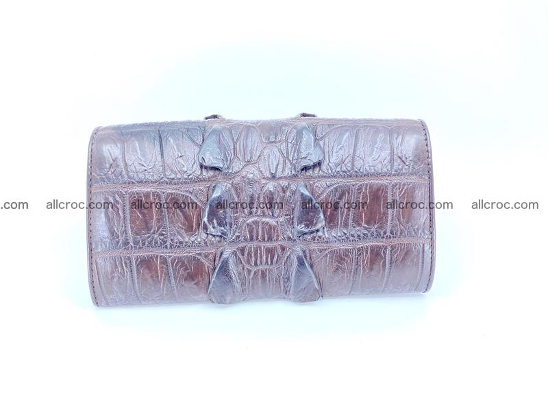 Crocodile leather wallet long wallet trifold 961