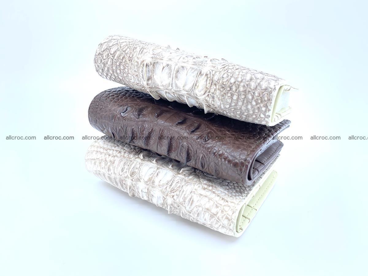 Crocodile leather vertical wallet HK 648 Foto 9