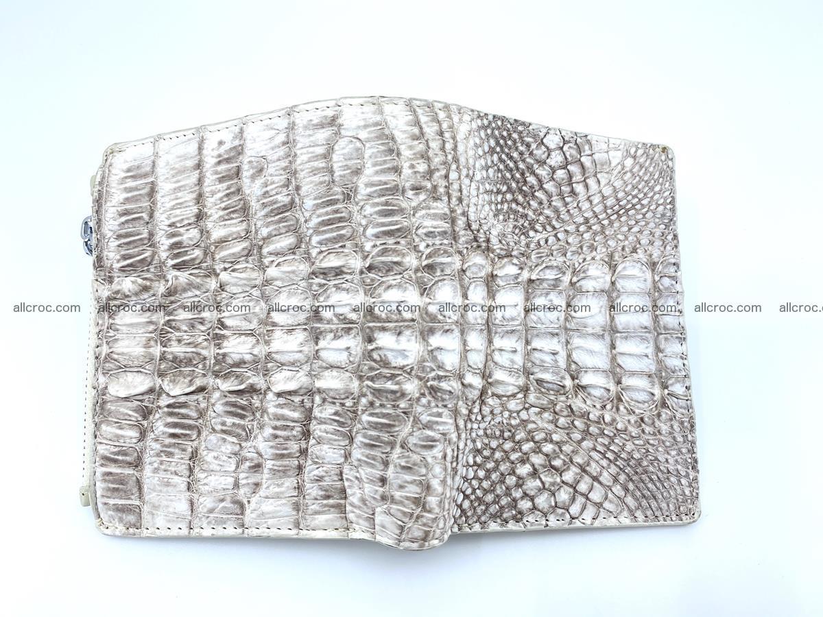 Crocodile leather vertical wallet HK 648 Foto 2