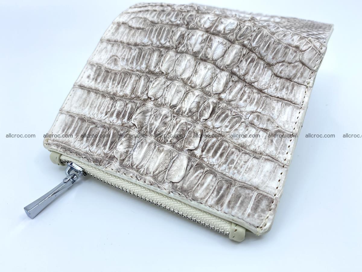 Crocodile leather vertical wallet HK 648 Foto 7