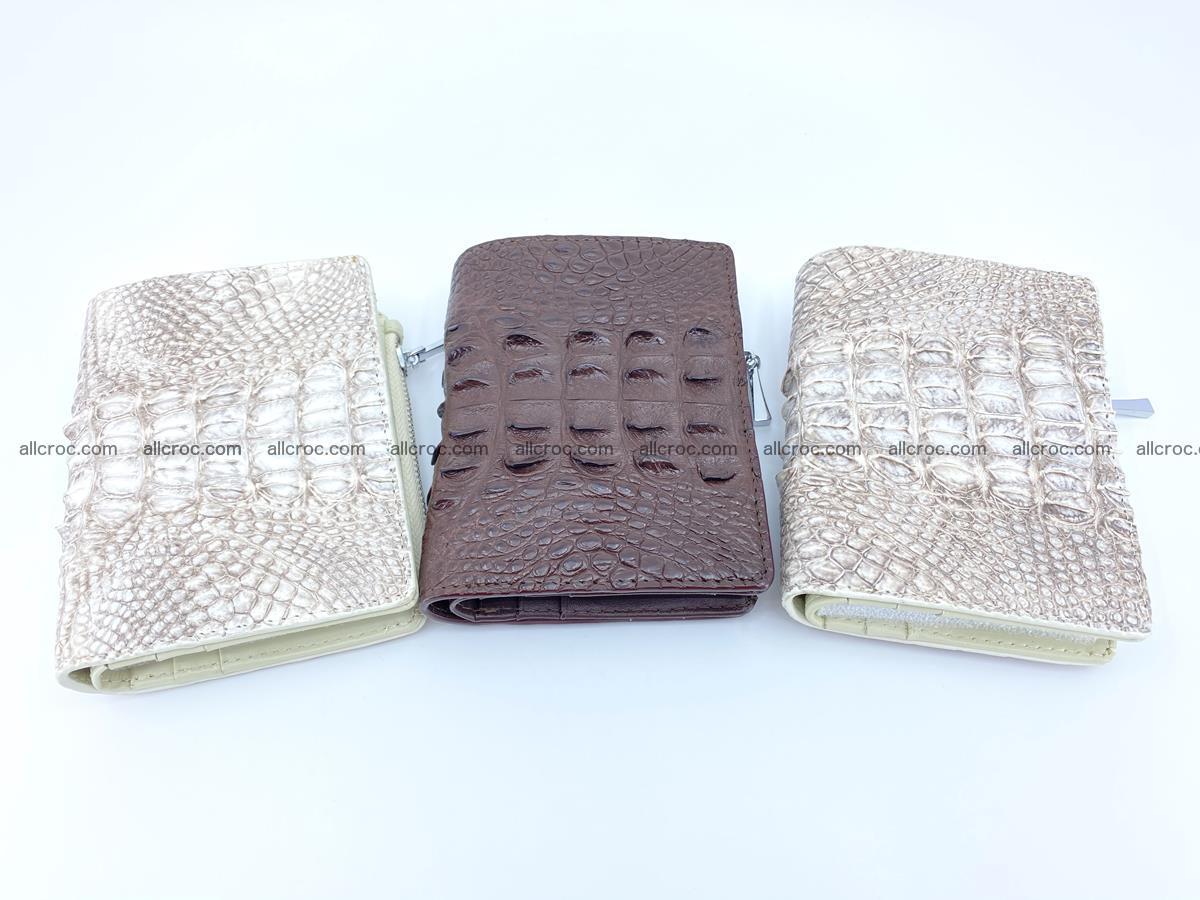 Crocodile leather vertical wallet HK 648 Foto 8