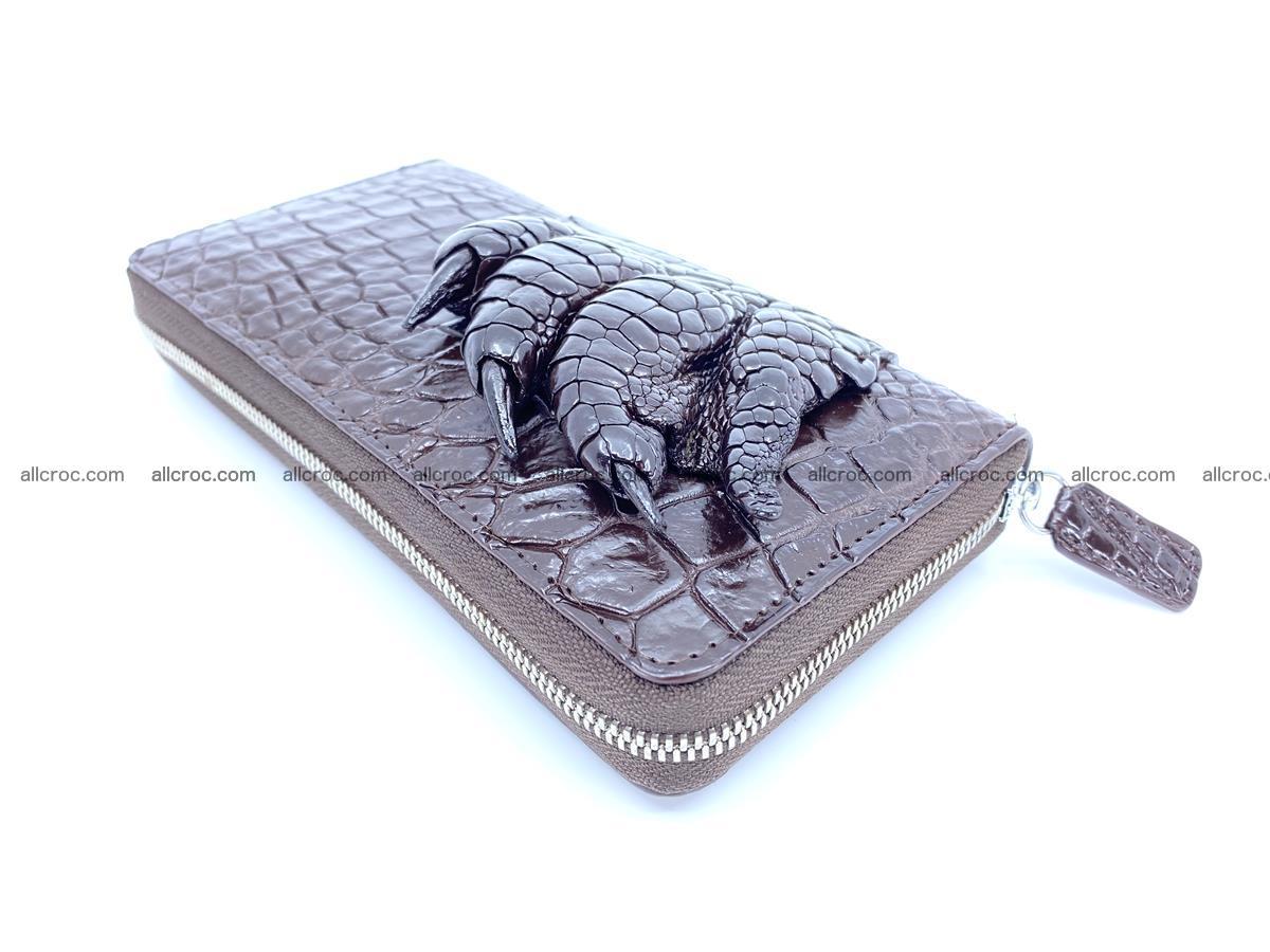 Crocodile leather wallet with crocodile paw 1 zip 541 Foto 1