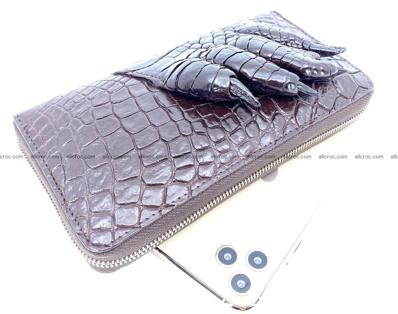 Crocodile leather wallet with crocodile paw 1 zip 541 Foto 0