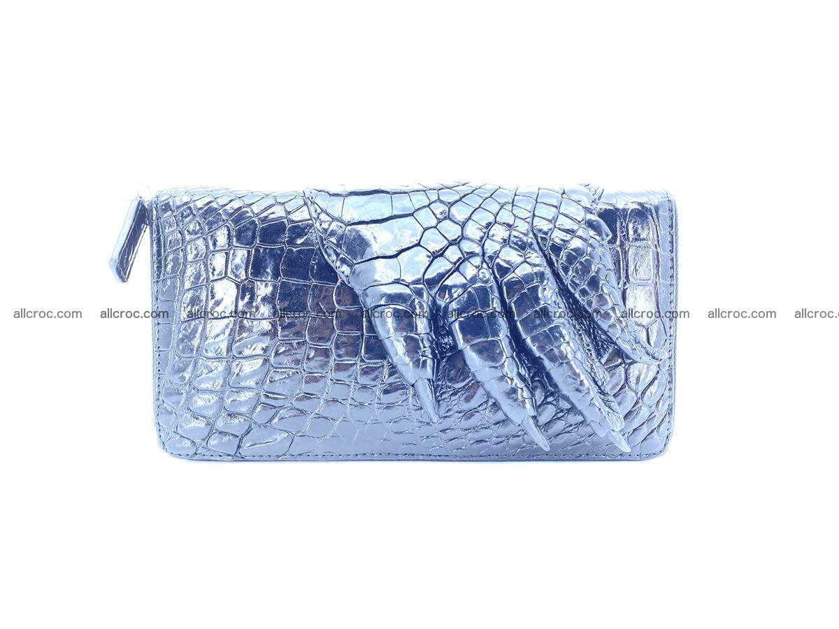 Crocodile skin zip wallet with crocodile paw 540 Foto 1