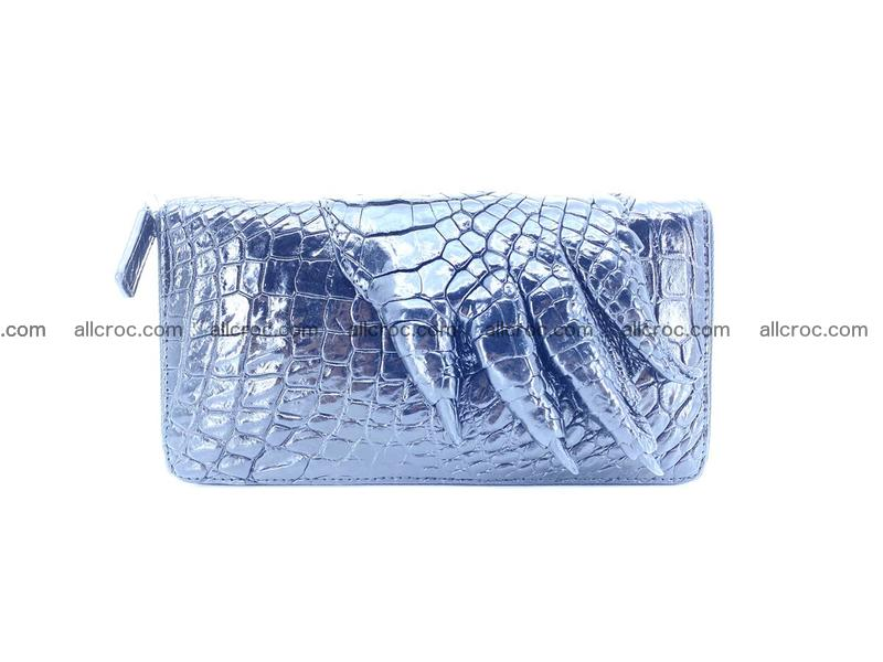 Crocodile leather wallet with crocodile paw 1 zip 540