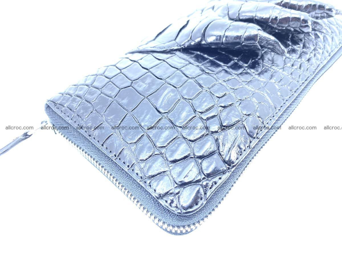 Crocodile skin zip wallet with crocodile paw 540 Foto 8
