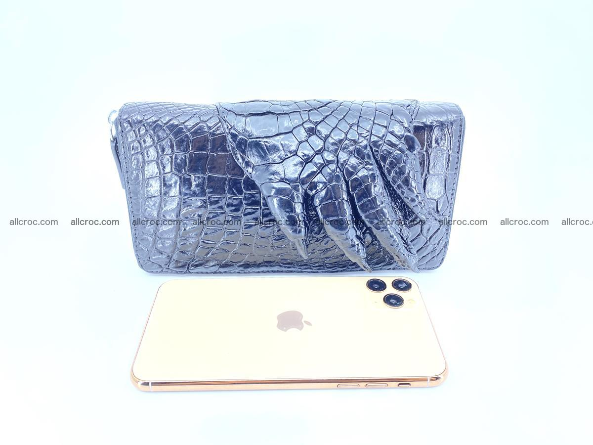 Crocodile skin zip wallet with crocodile paw 540 Foto 9