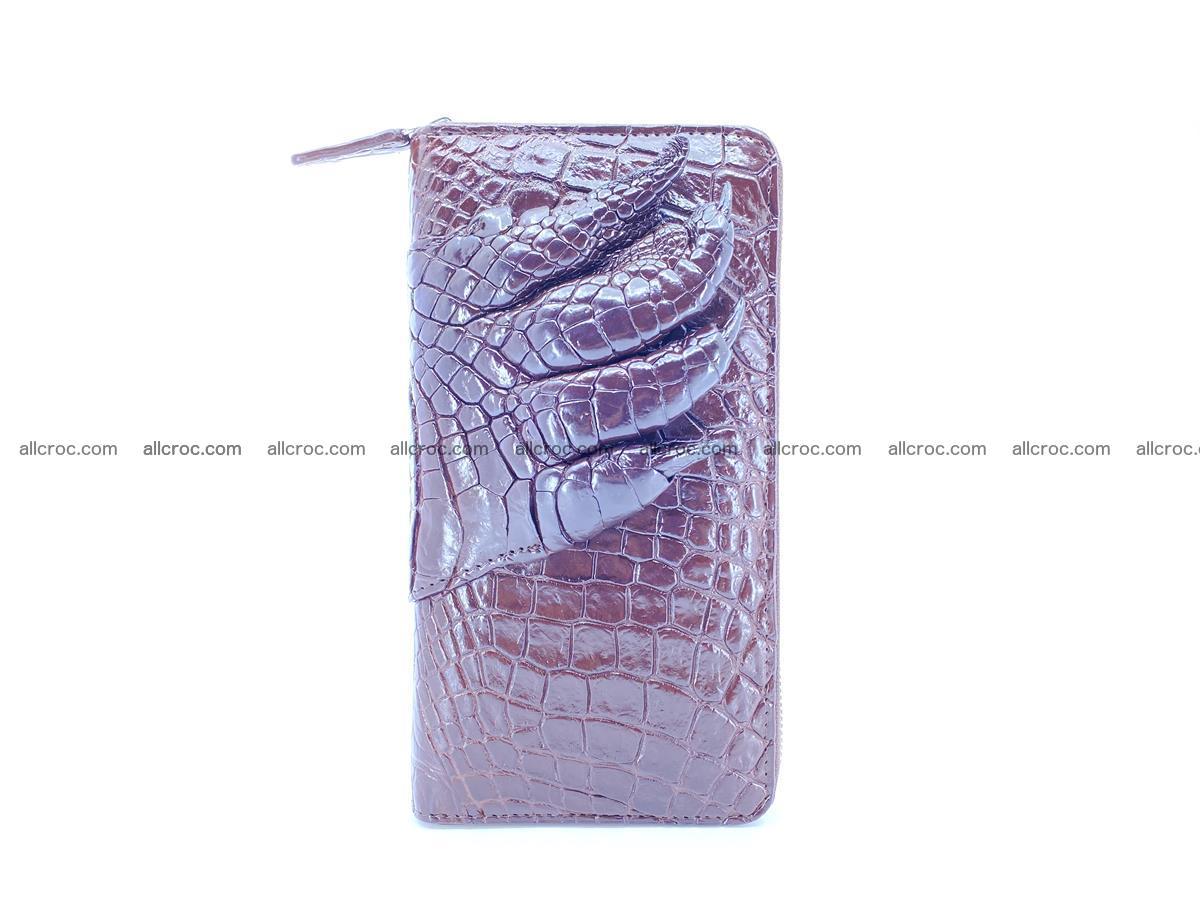 Crocodile leather wallet with crocodile paw 1 zip 541 Foto 6
