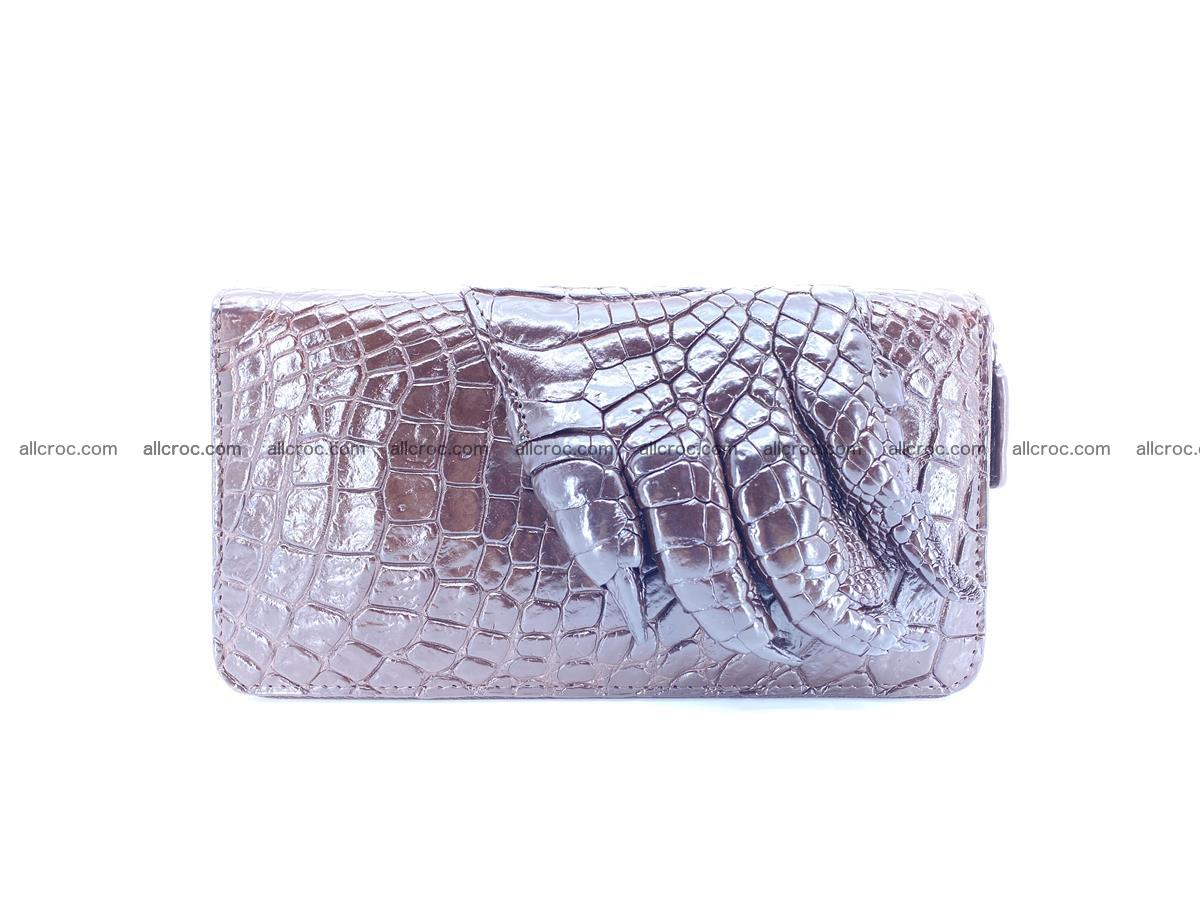 Crocodile leather wallet with crocodile paw 1 zip 541 Foto 4