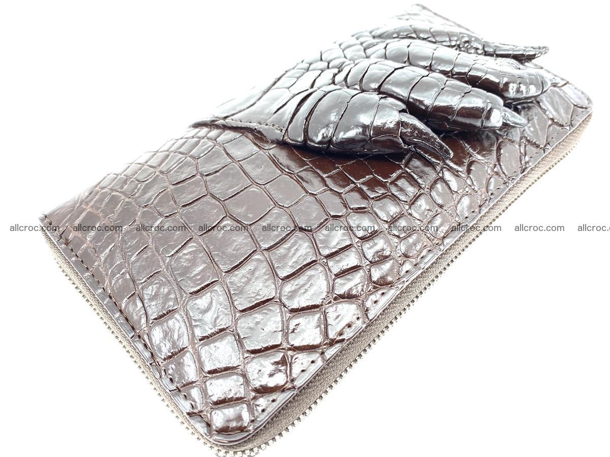 Crocodile leather wallet with crocodile paw 1 zip 541 Foto 2