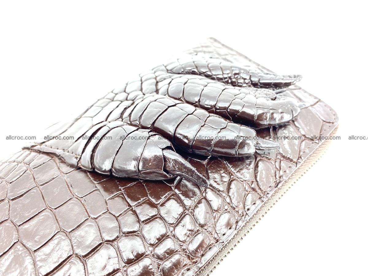 Crocodile leather wallet with crocodile paw 1 zip 541 Foto 8