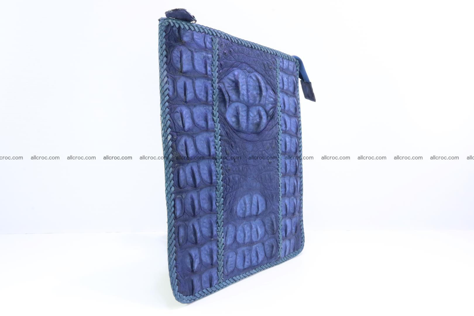 Crocodile skin shoulder bag hand braided edges 128 Foto 1
