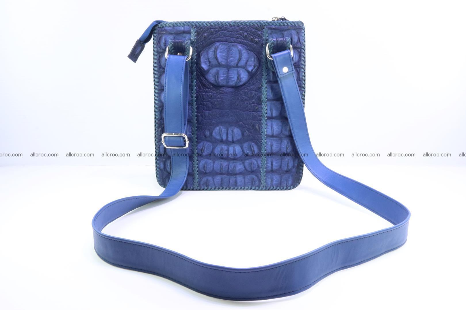 Crocodile skin shoulder bag hand braided edges 128 Foto 3