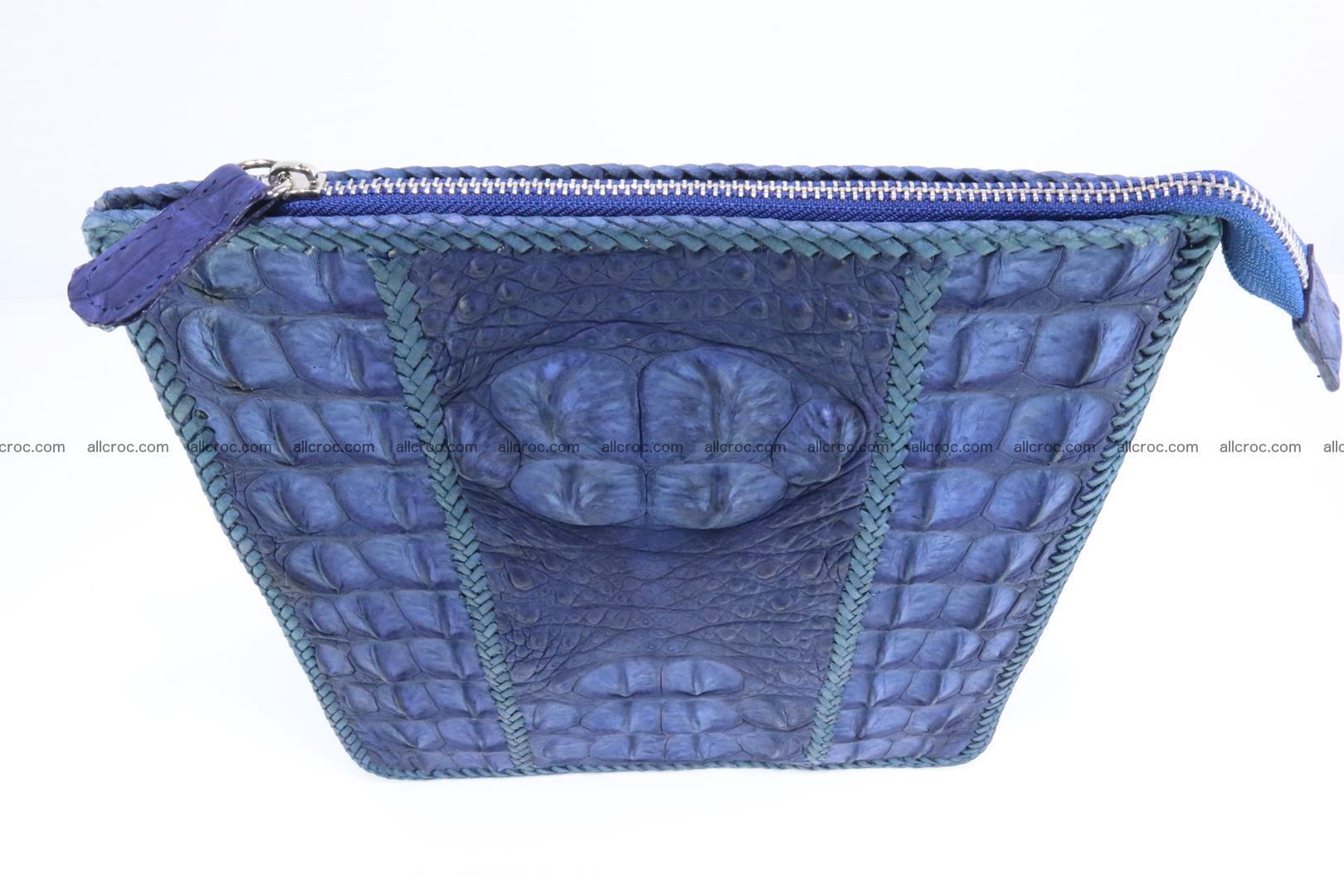 Crocodile skin shoulder bag hand braided edges 128 Foto 4