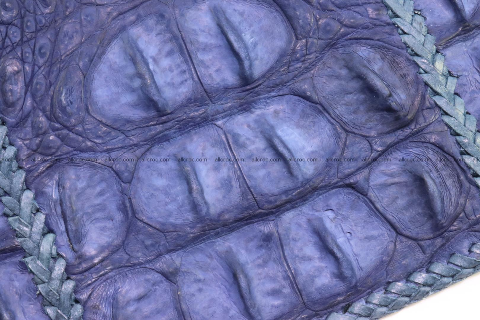 Crocodile skin shoulder bag hand braided edges 128 Foto 7
