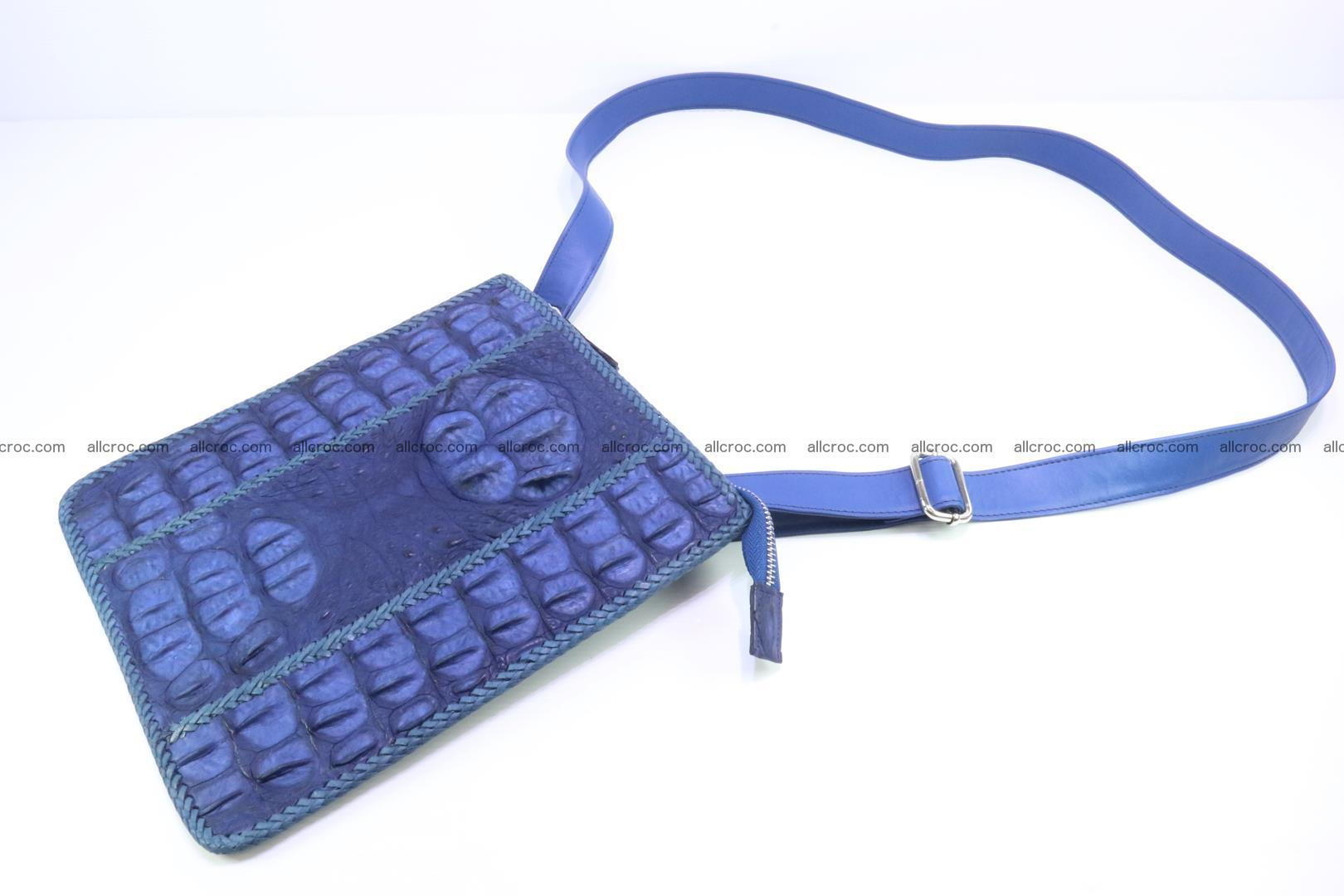 Crocodile skin shoulder bag hand braided edges 128 Foto 6
