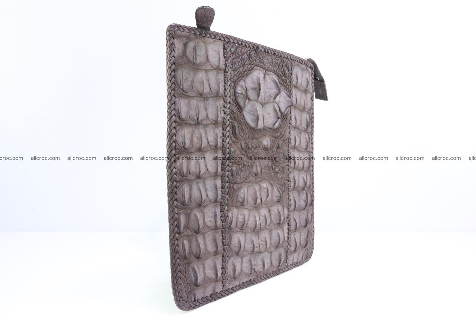 Crocodile skin shoulder bag hand braided edges 129 Foto 1