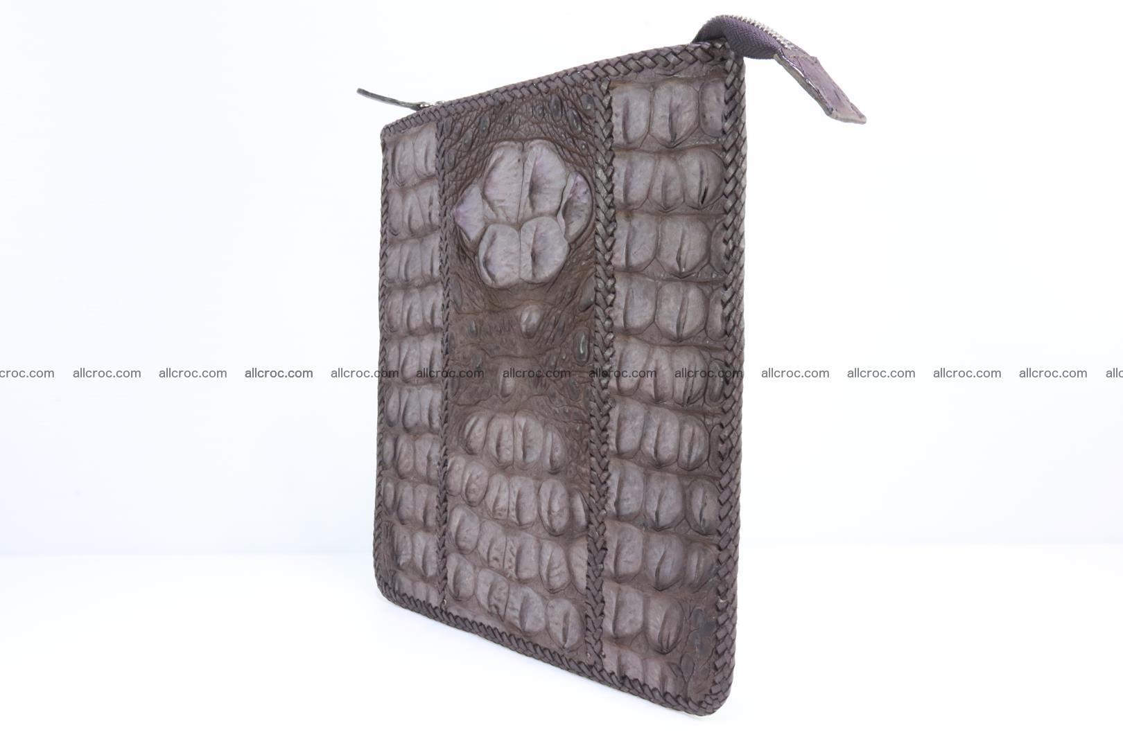 Crocodile skin shoulder bag hand braided edges 129 Foto 2