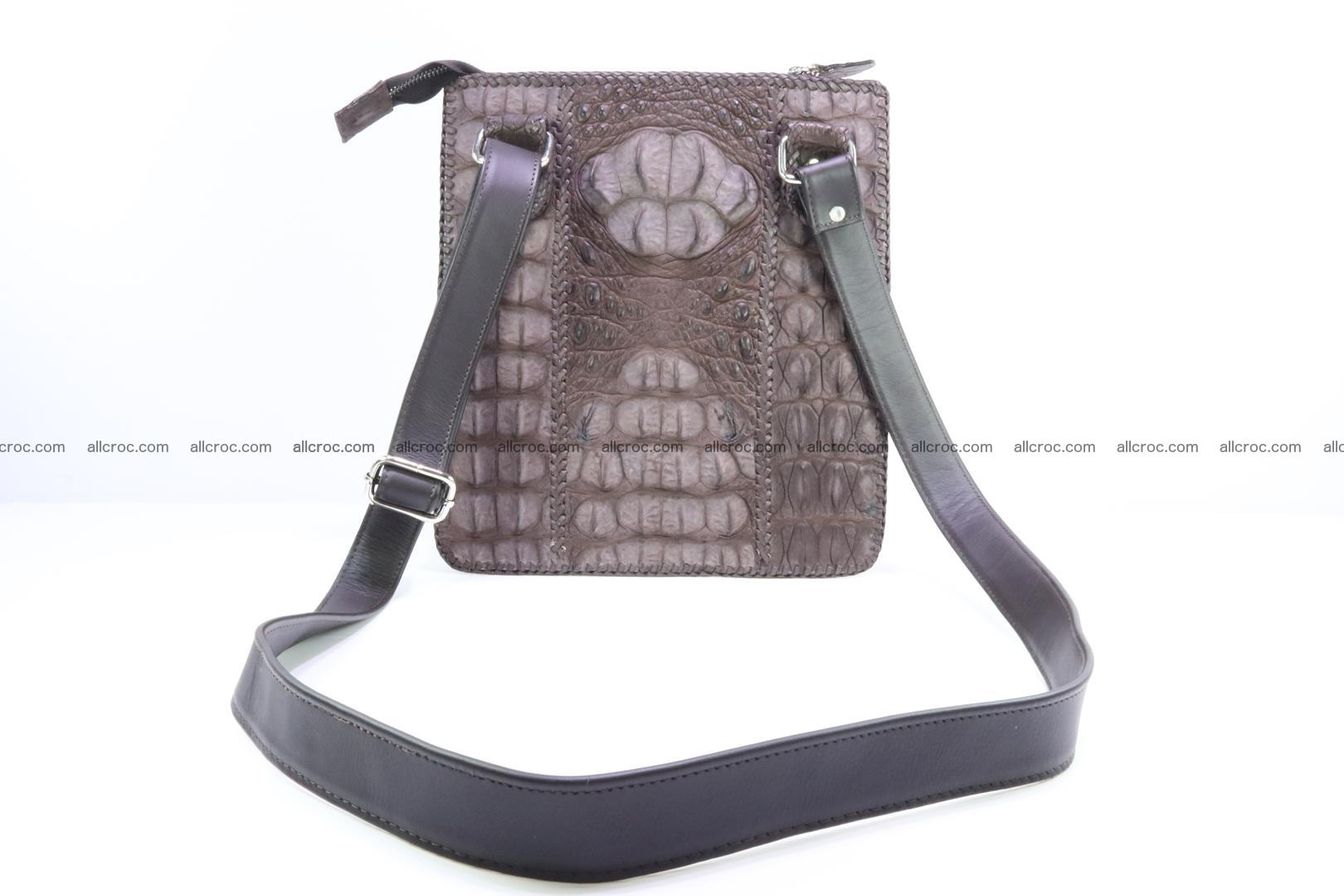 Crocodile skin shoulder bag hand braided edges 129 Foto 3