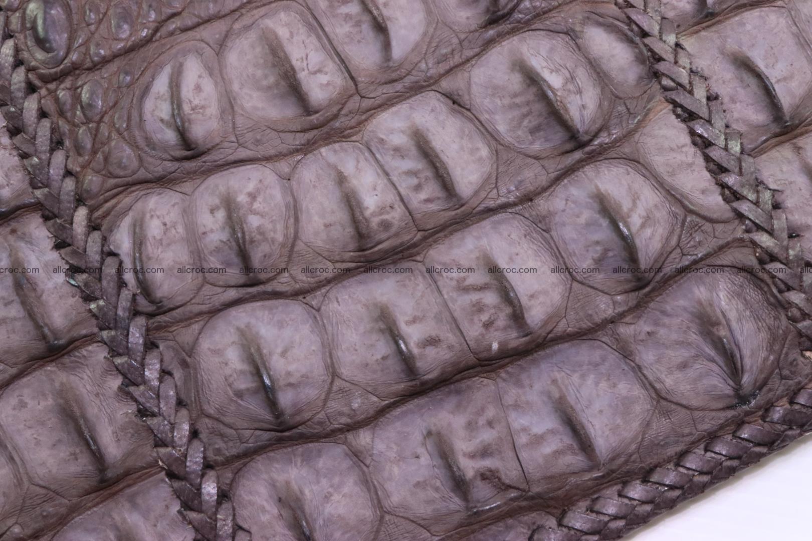Crocodile skin shoulder bag hand braided edges 129 Foto 6