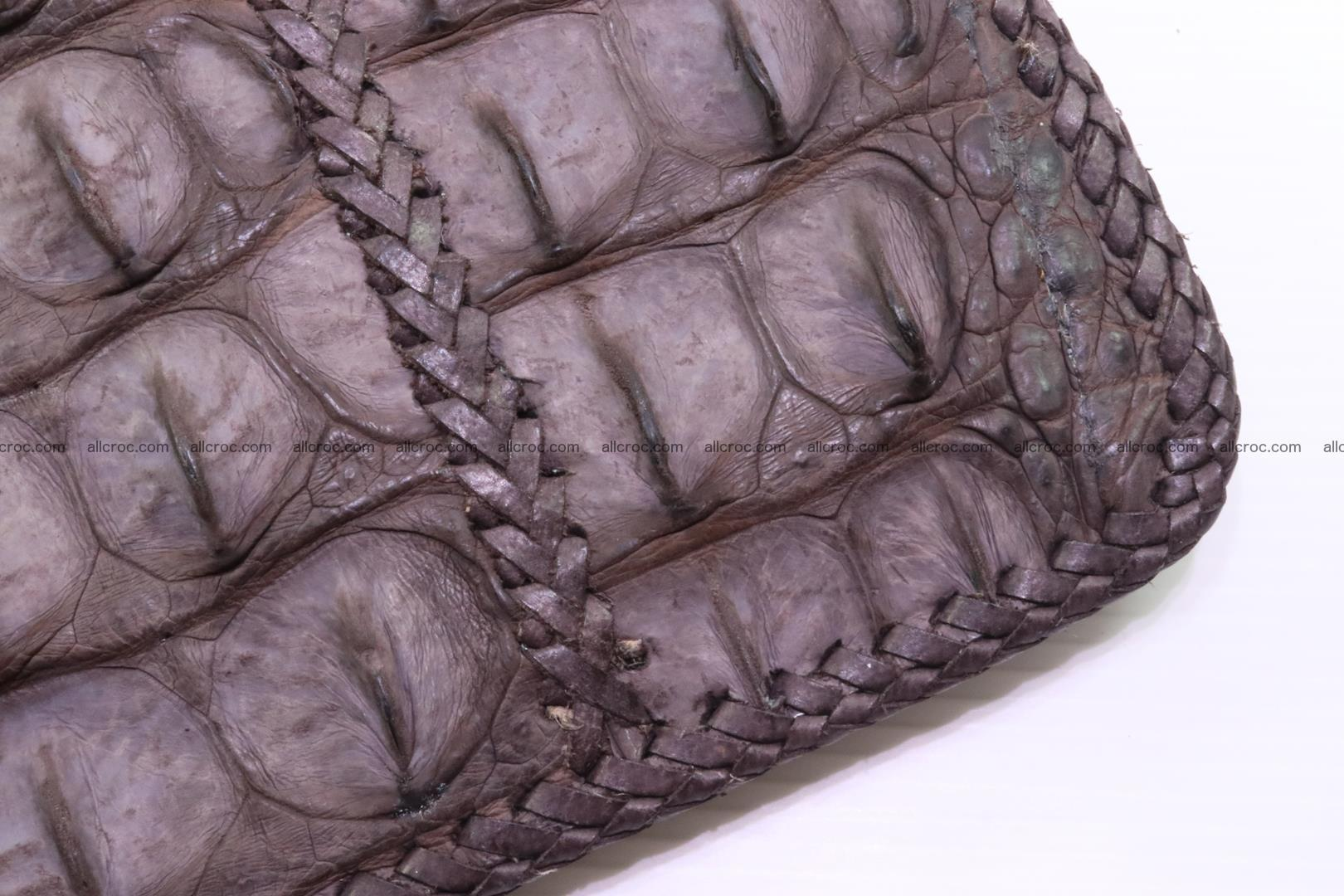 Crocodile skin shoulder bag hand braided edges 129 Foto 8
