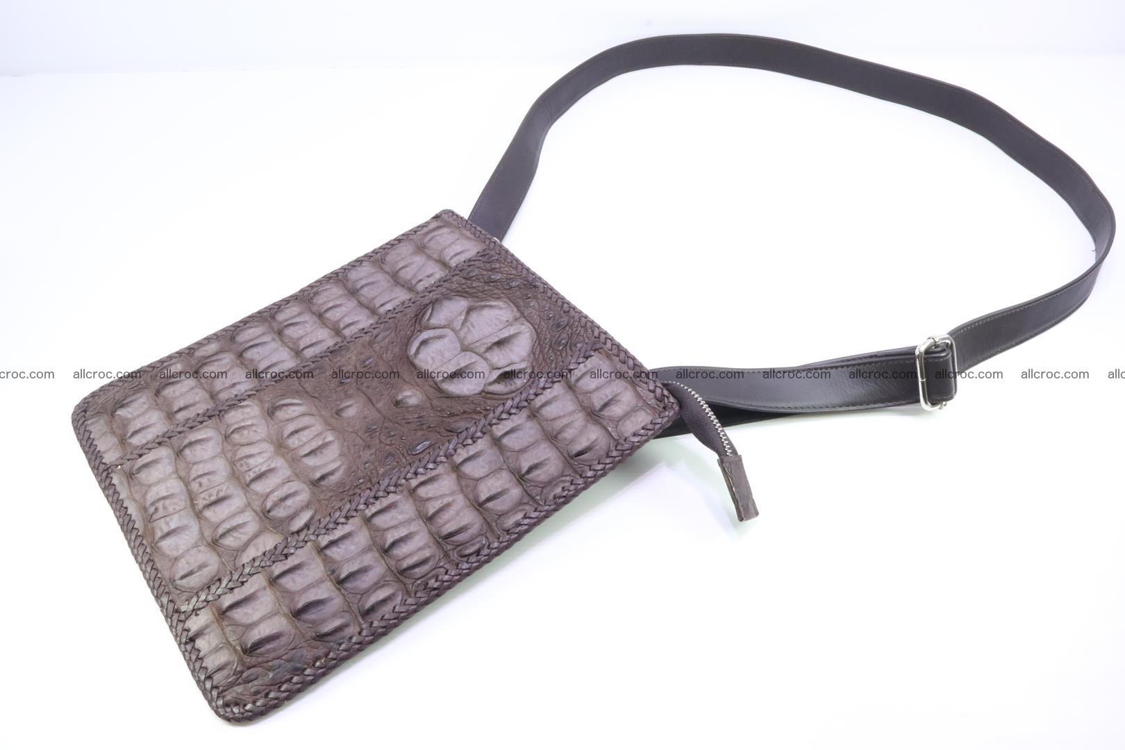 Crocodile skin shoulder bag hand braided edges 129 Foto 7