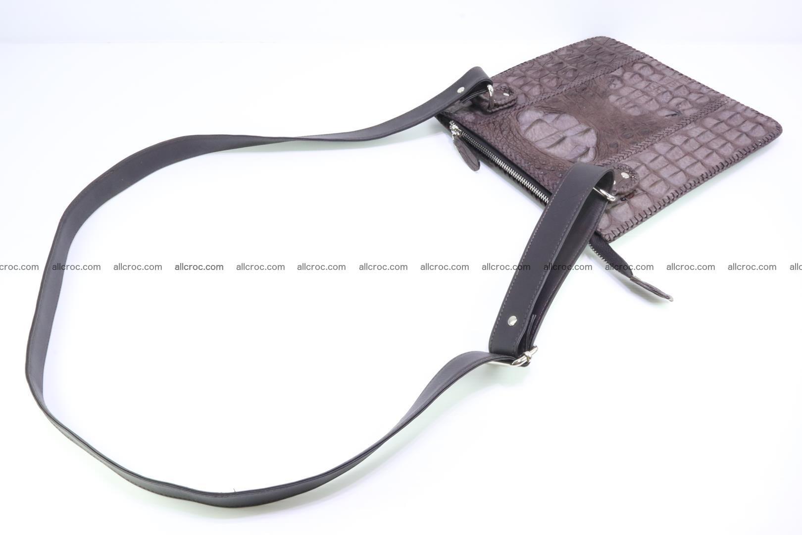 Crocodile skin shoulder bag hand braided edges 129 Foto 9
