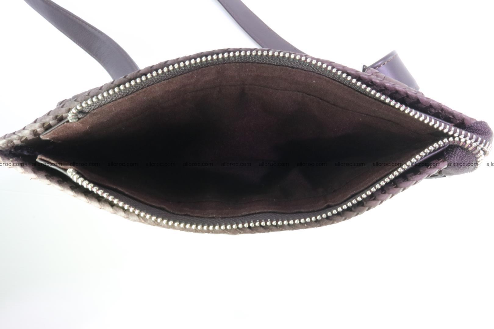 Crocodile skin shoulder bag hand braided edges 129 Foto 10