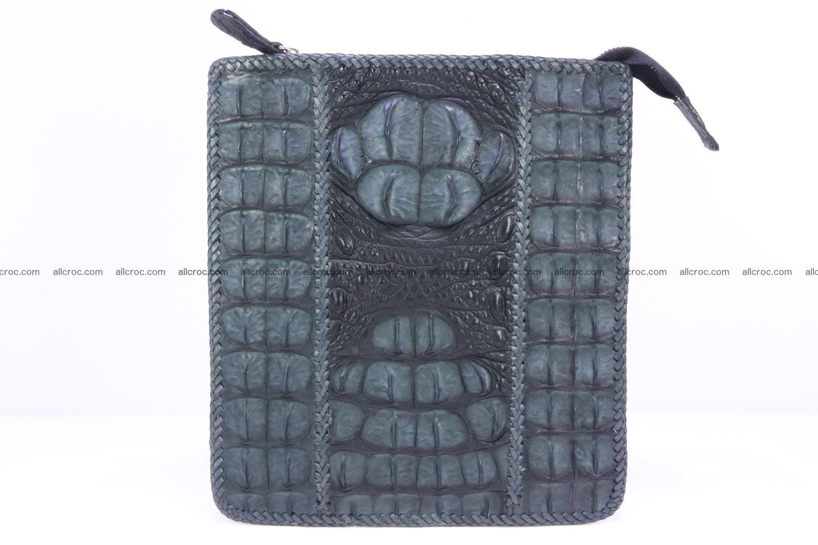 Crocodile skin shoulder bag hand braided edges 130 Foto 0
