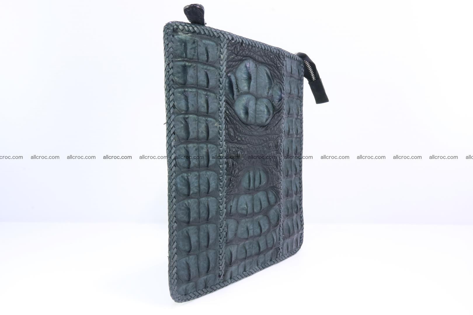 Crocodile skin shoulder bag hand braided edges 130 Foto 1