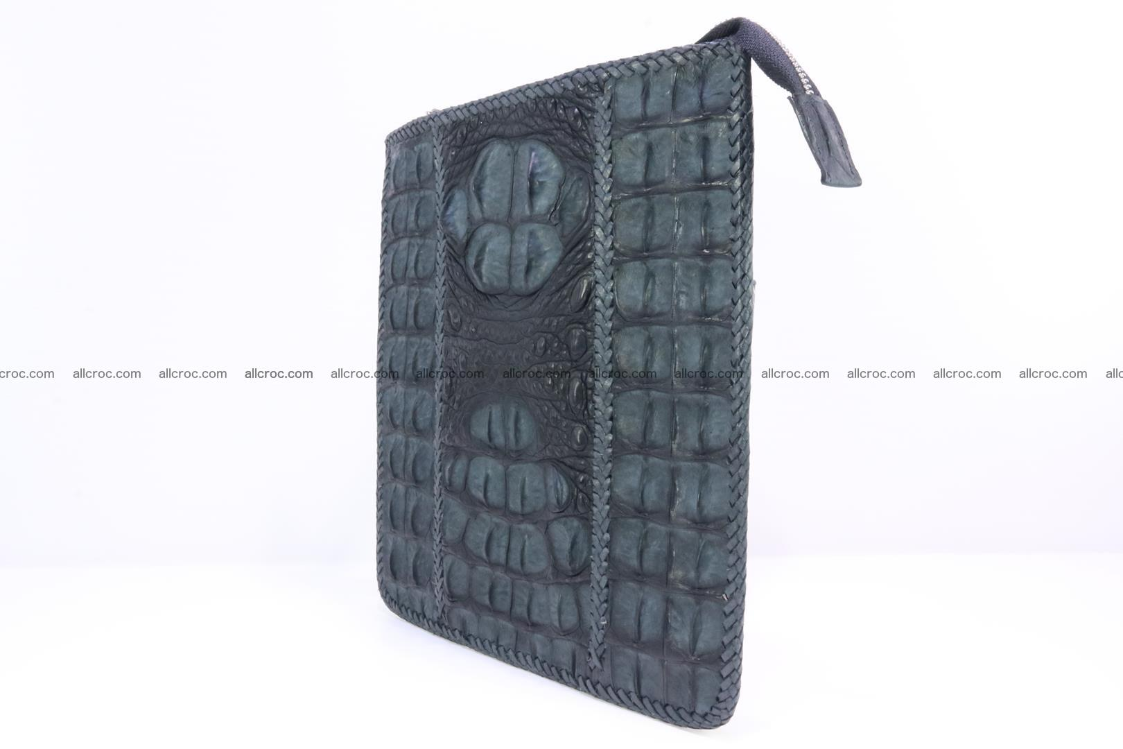 Crocodile skin shoulder bag hand braided edges 130 Foto 2