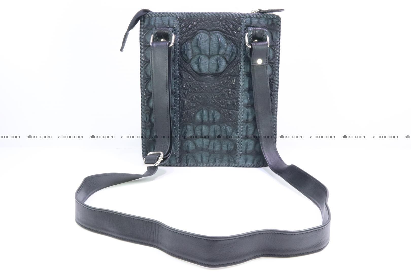 Crocodile skin shoulder bag hand braided edges 130 Foto 3