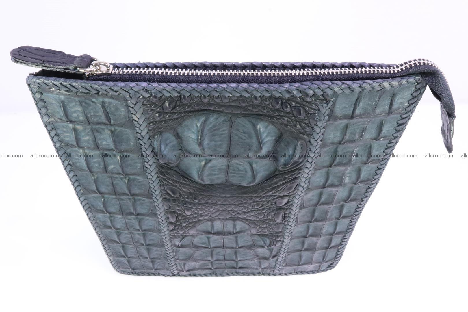Crocodile skin shoulder bag hand braided edges 130 Foto 4