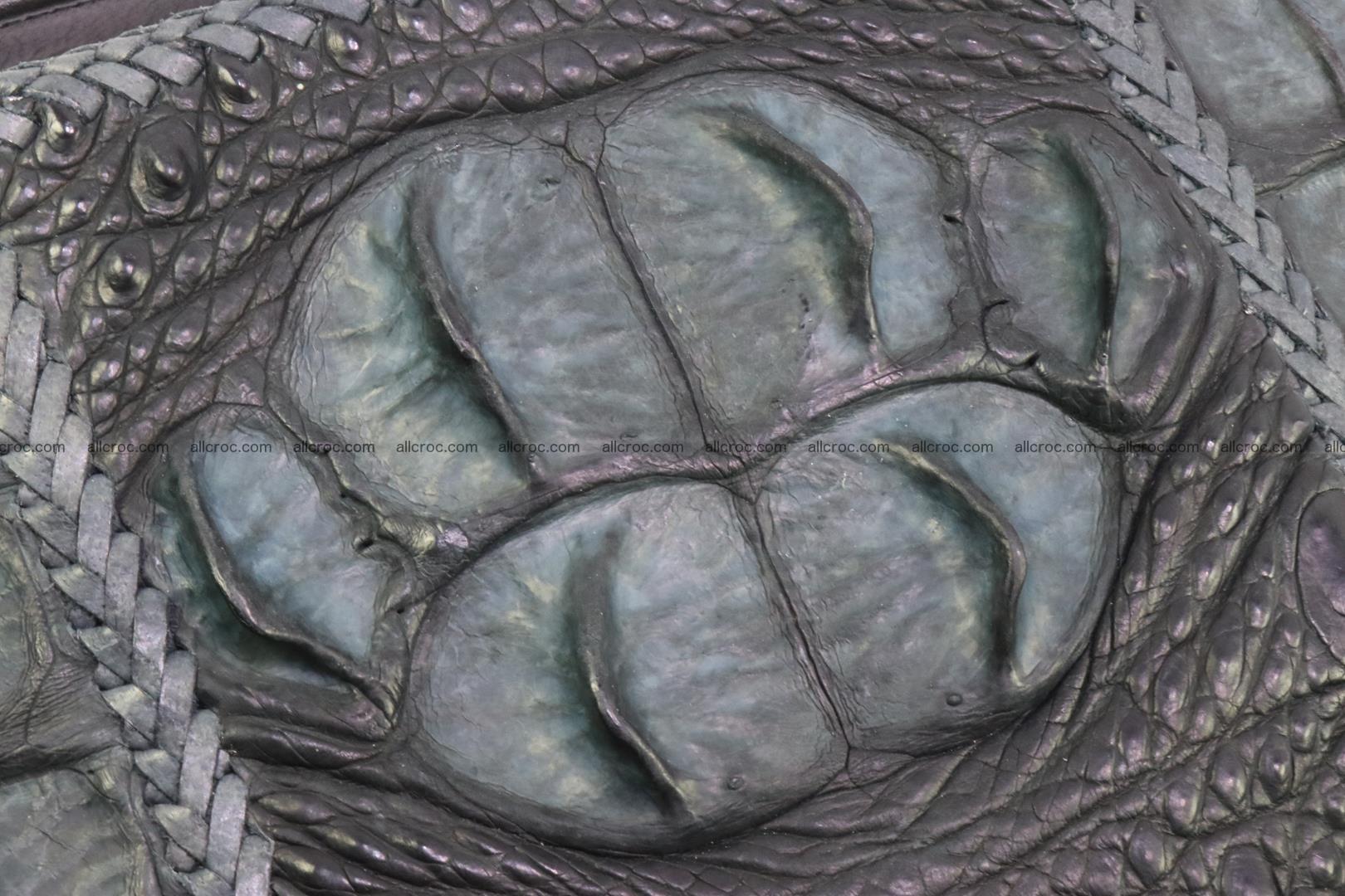 Crocodile skin shoulder bag hand braided edges 130 Foto 5