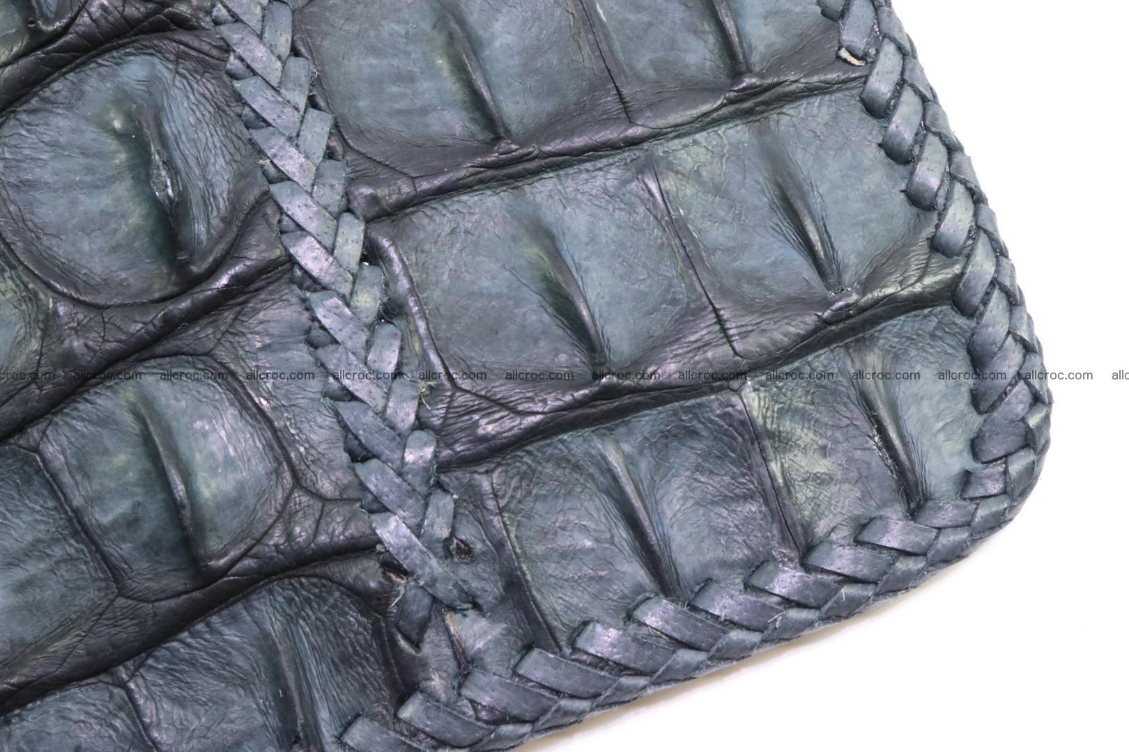 Crocodile skin shoulder bag hand braided edges 130 Foto 8